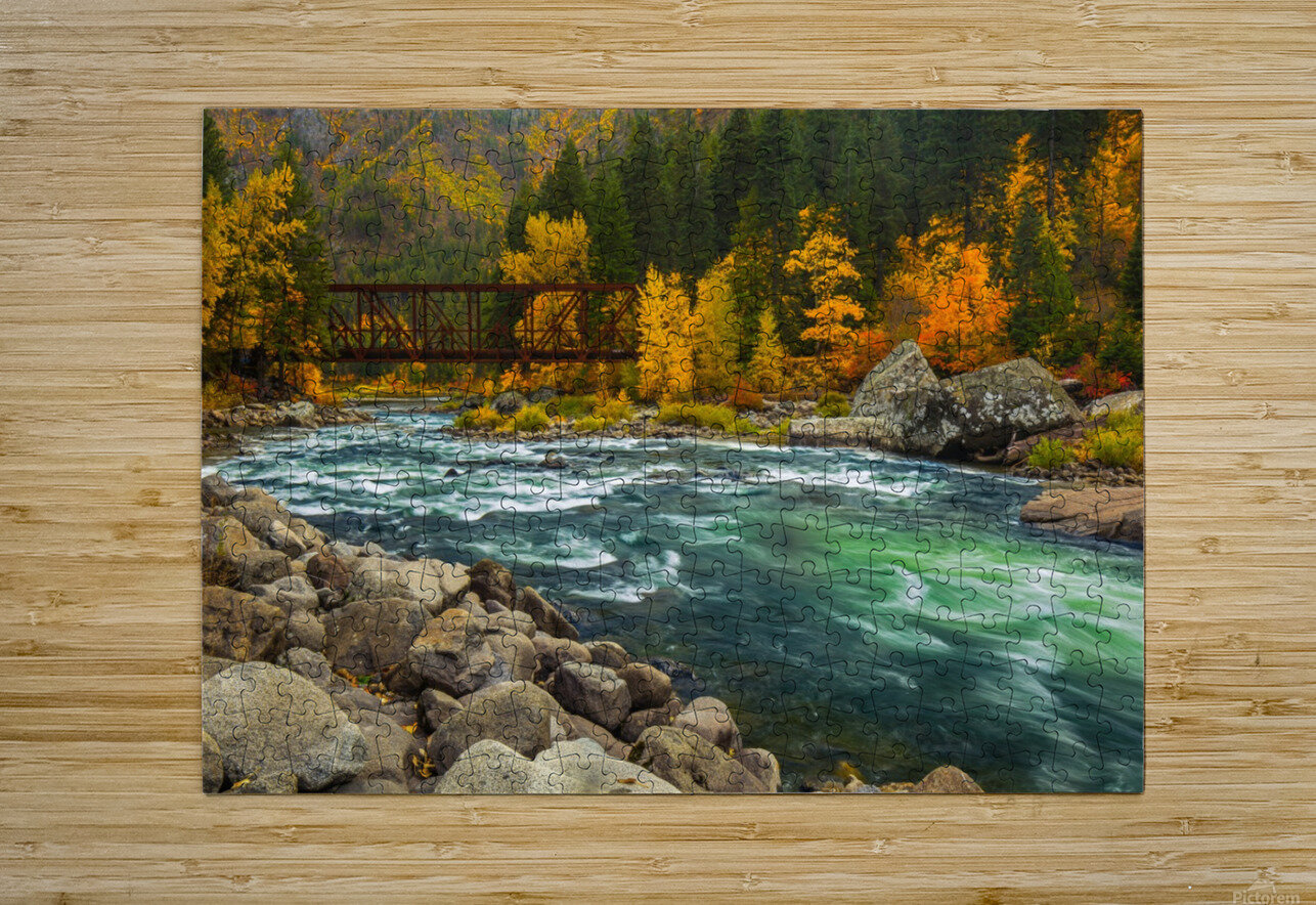 Emerald Flow  HD Metal print with Floating Frame on Back
