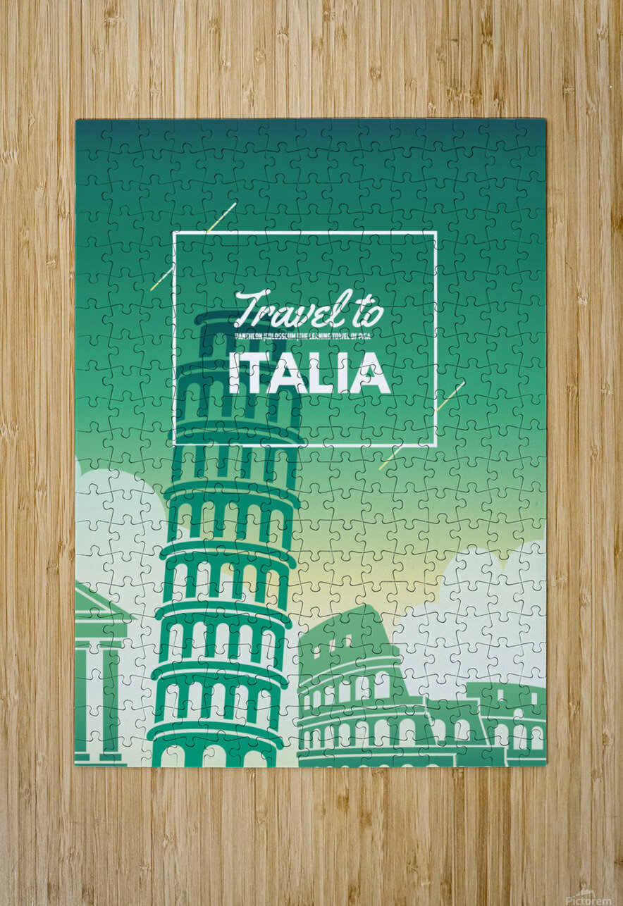 Travel to Italy  HD Metal print with Floating Frame on Back