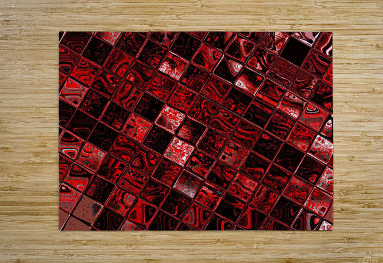 Red Glass Tiles 3  HD Metal print with Floating Frame on Back