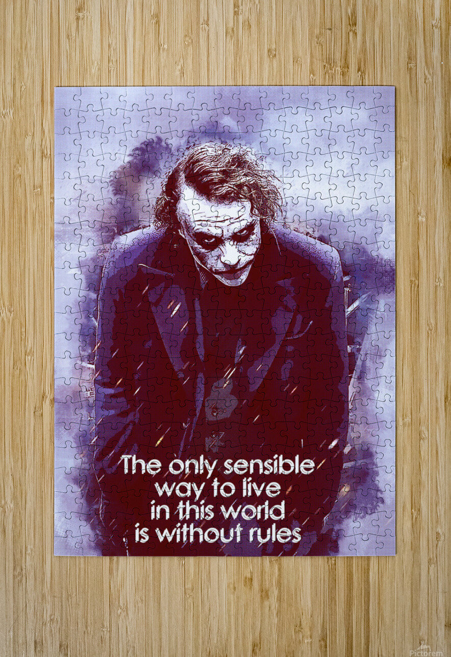 The only sensible way to live in this world is without rules  HD Metal print with Floating Frame on Back