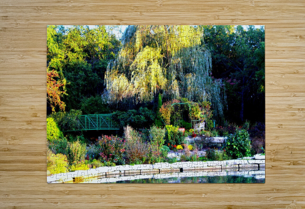 Reflections of a Monet Garden  HD Metal print with Floating Frame on Back