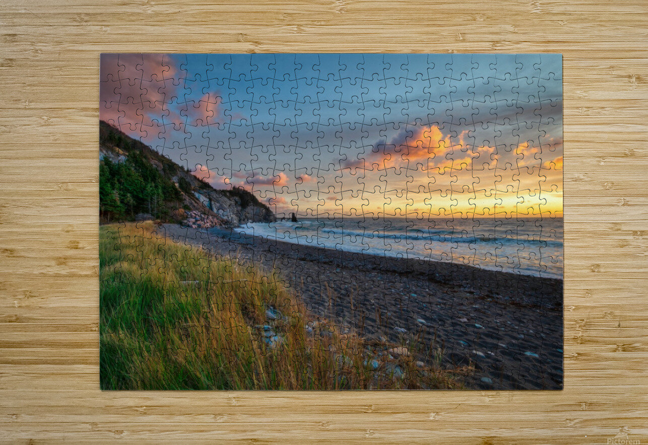 Sunset Relief  HD Metal print with Floating Frame on Back
