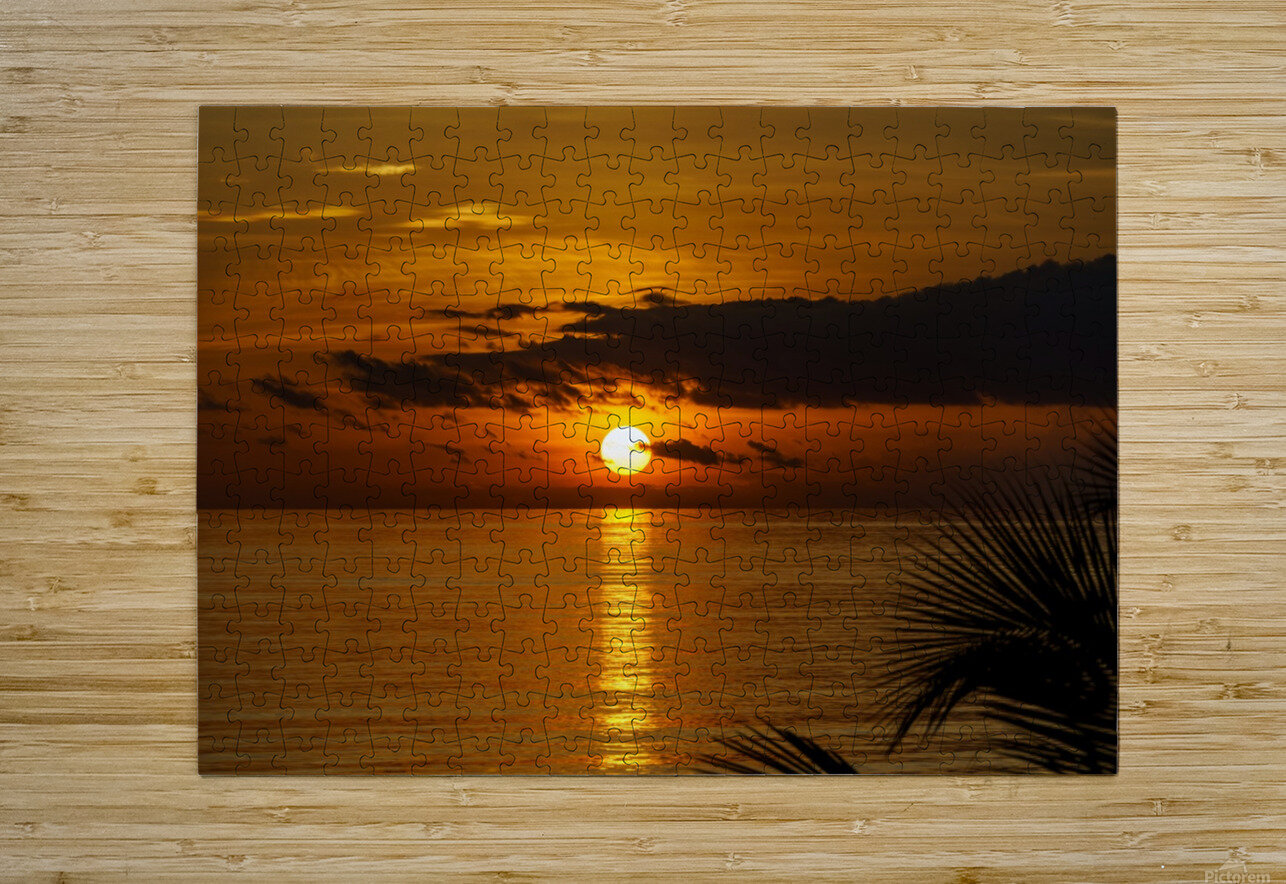 Sunrise at Cayman Kai  HD Metal print with Floating Frame on Back