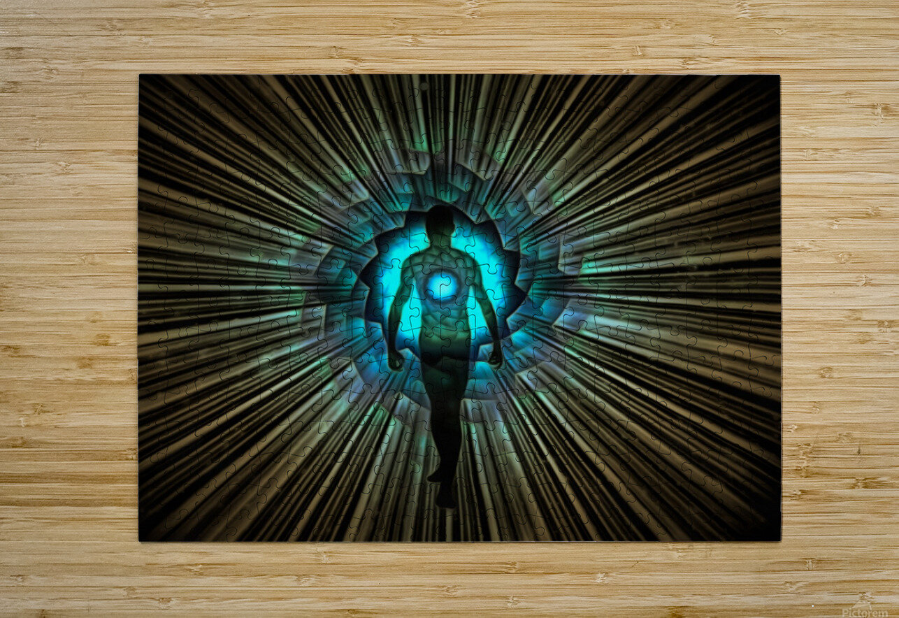 Aura or Soul  HD Metal print with Floating Frame on Back