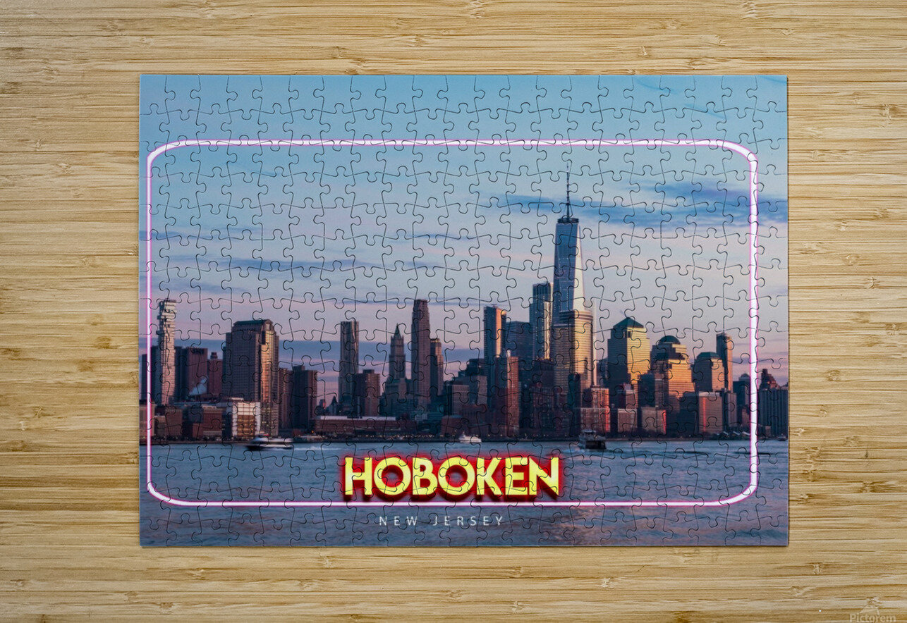 Hoboken   New Jersey  HD Metal print with Floating Frame on Back