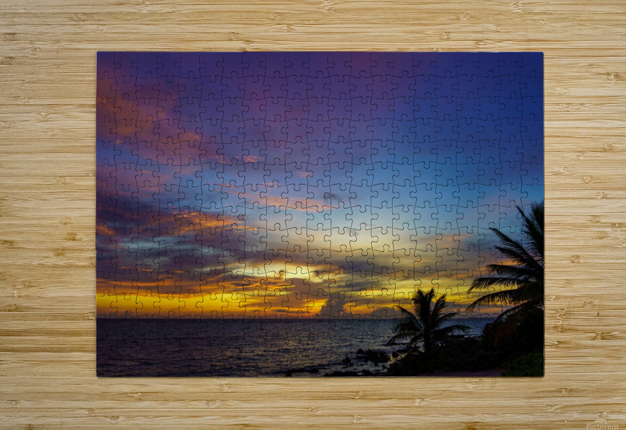 Colorful Caribbean Sky at Grand Cayman  HD Metal print with Floating Frame on Back