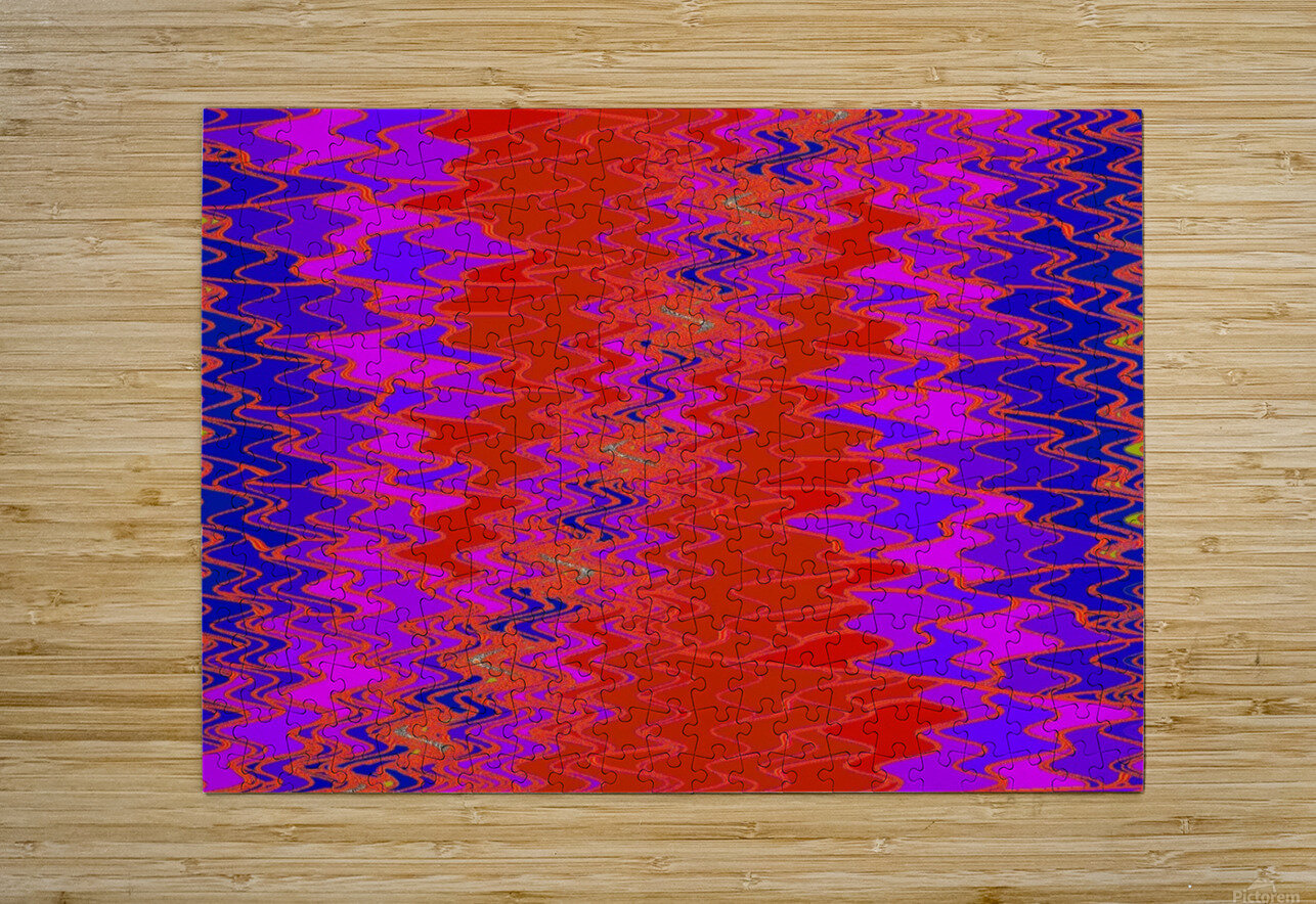 Zig Zag 11  HD Metal print with Floating Frame on Back