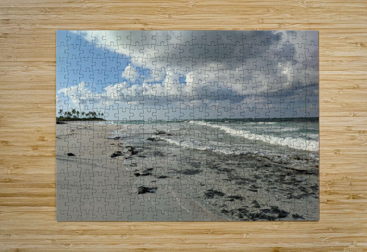 Eleuthera Deserted Beach  HD Metal print with Floating Frame on Back