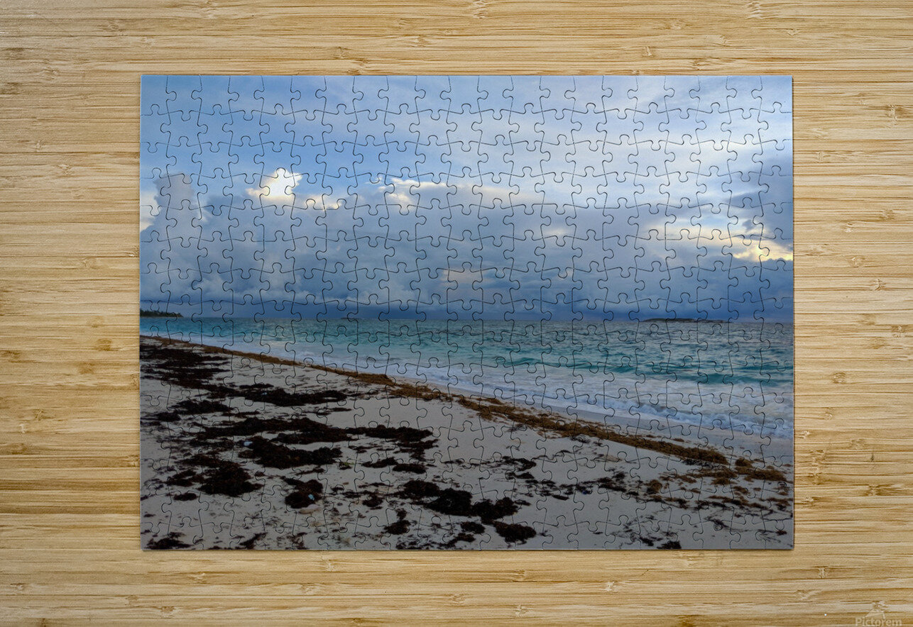 Eleuthera Stormy Horizon  HD Metal print with Floating Frame on Back