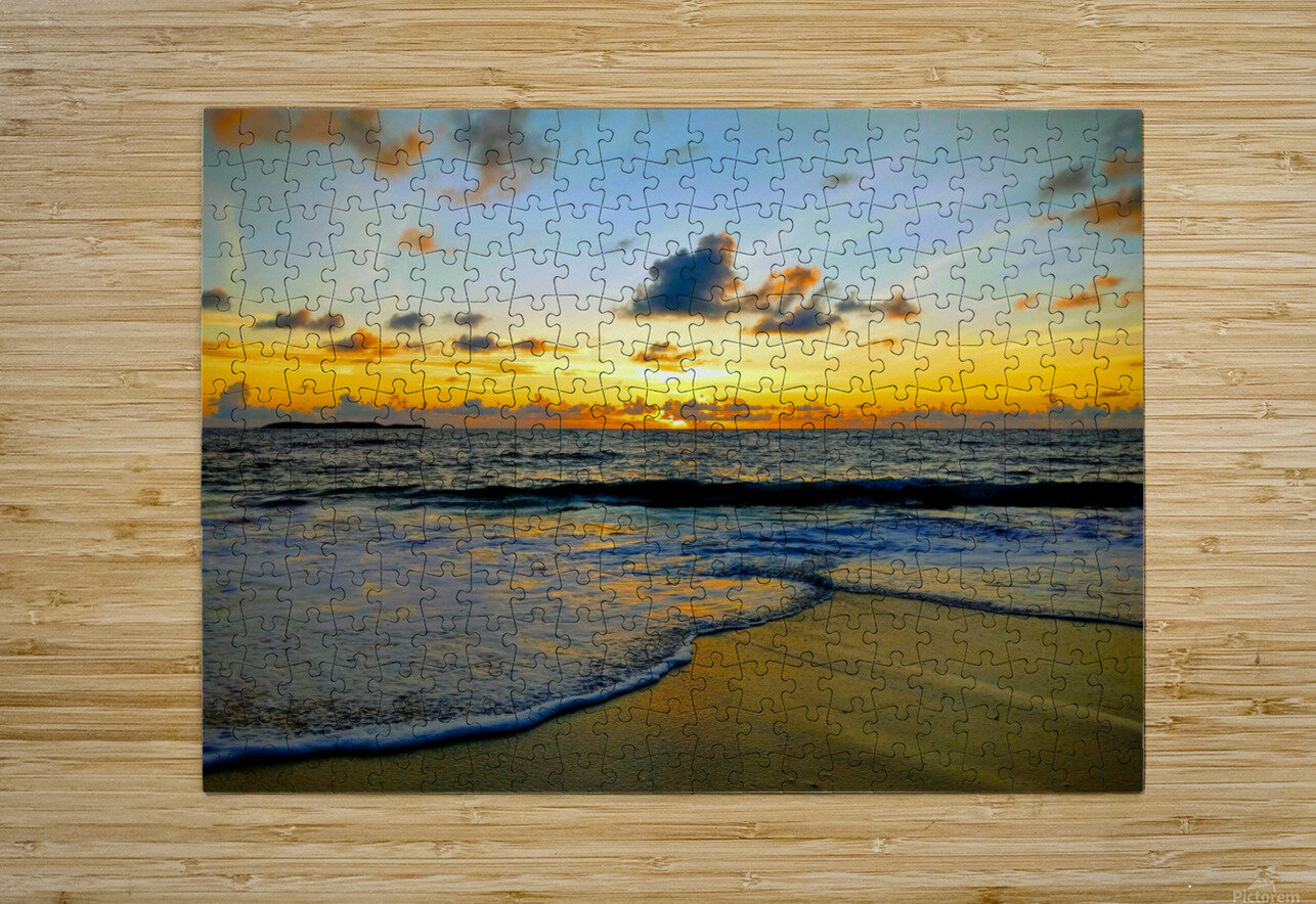 Eleuthera suds and sand  HD Metal print with Floating Frame on Back