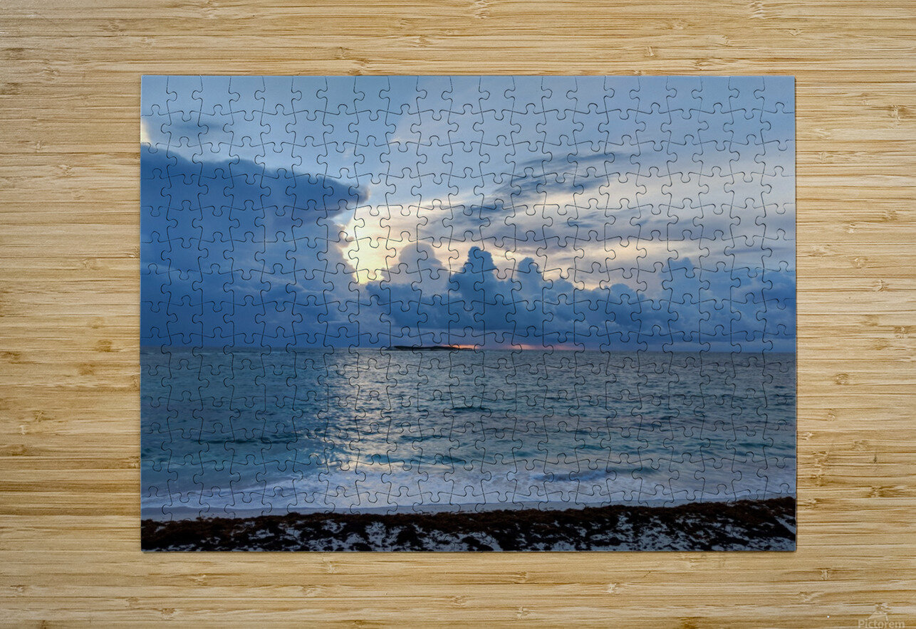 Eleuthera Sun Ray 2  HD Metal print with Floating Frame on Back