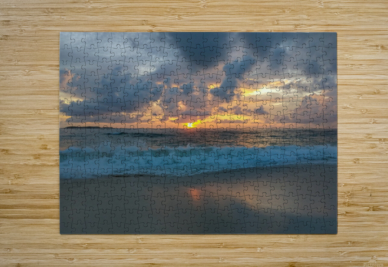 Eleuthera Morning on the beach  HD Metal print with Floating Frame on Back