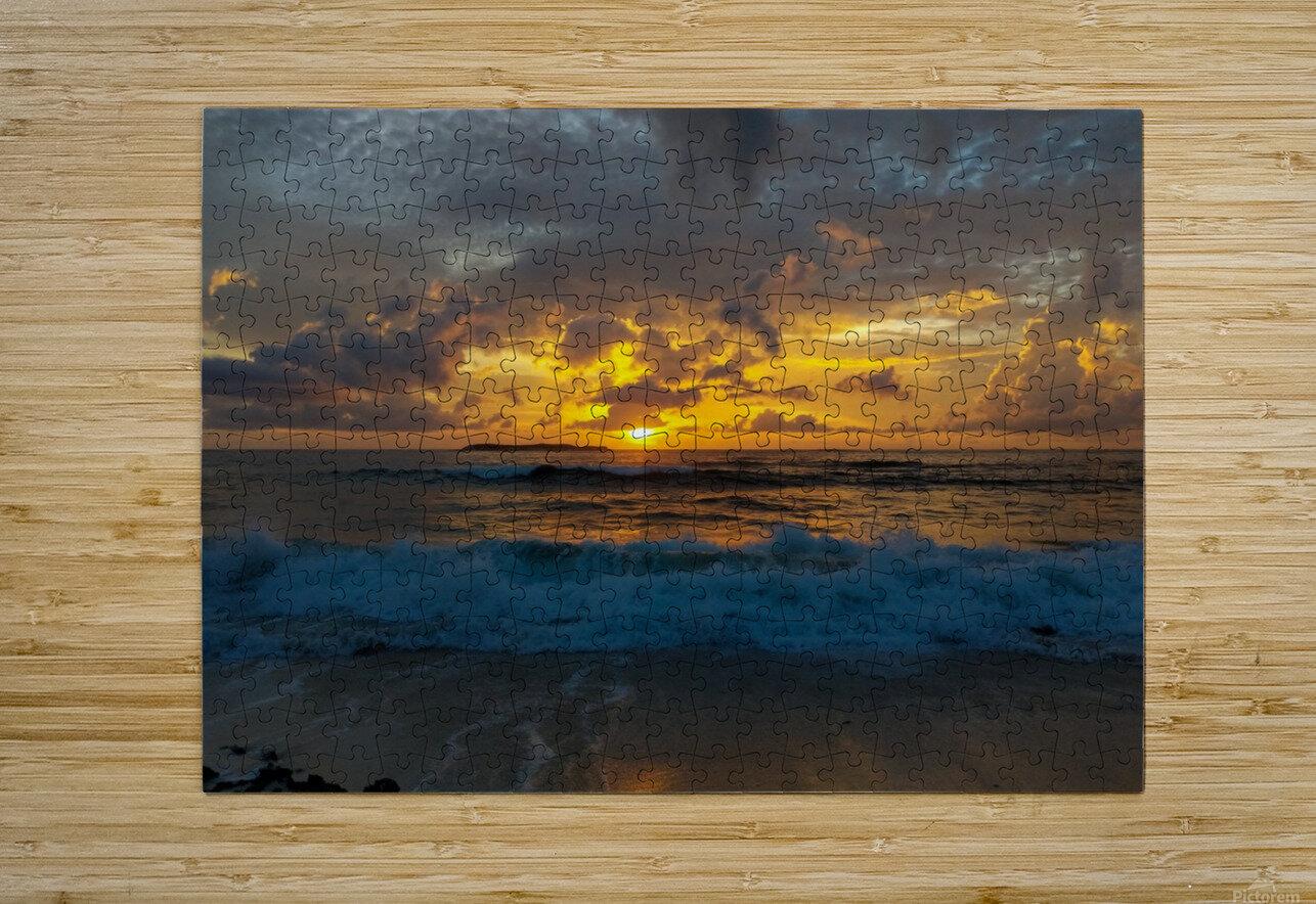 Eleuthera Sunrise splashdown  HD Metal print with Floating Frame on Back