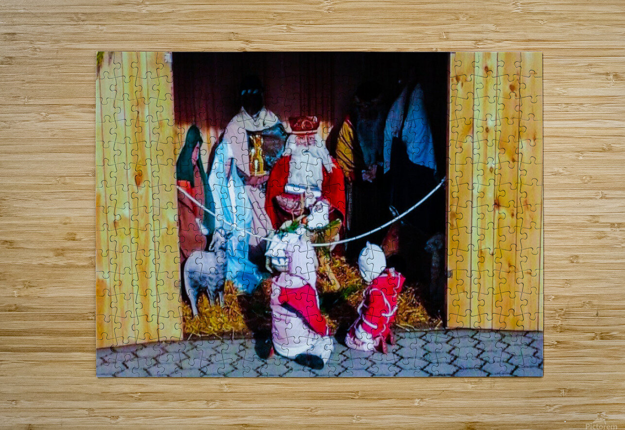Hungarian Nativity Scene  HD Metal print with Floating Frame on Back