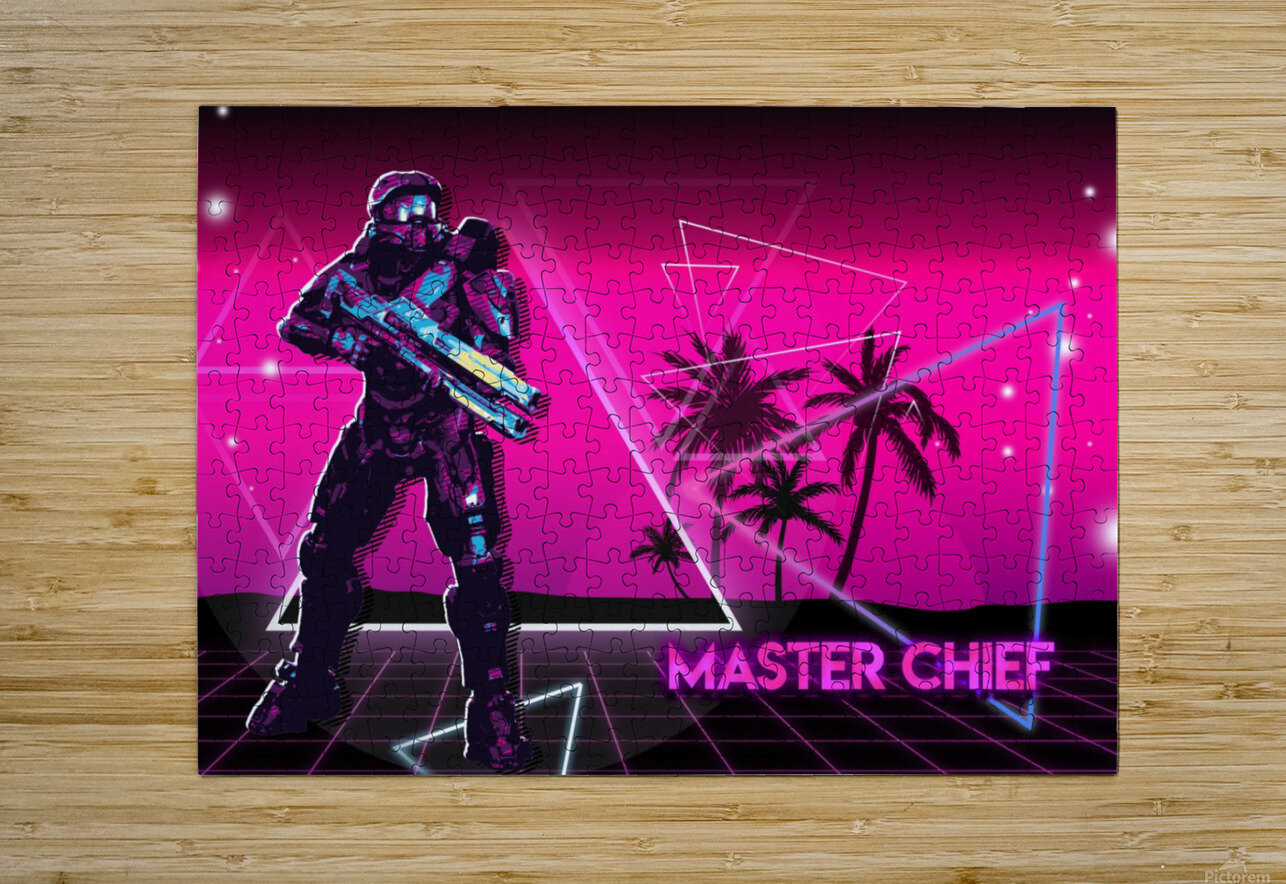 Master Chief   Halo 2  HD Metal print with Floating Frame on Back