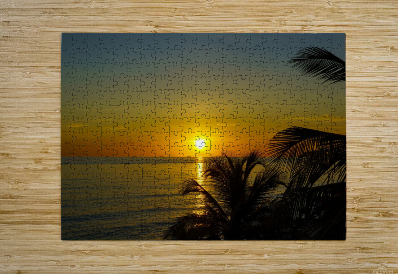 Caribbean Sunrise  HD Metal print with Floating Frame on Back