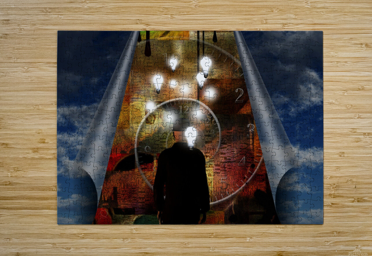 Time and Ideas  HD Metal print with Floating Frame on Back