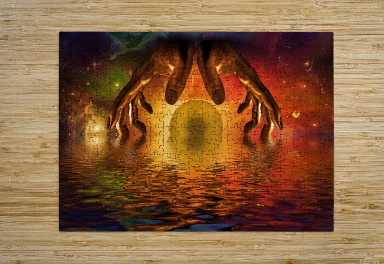 Mystery of God  HD Metal print with Floating Frame on Back