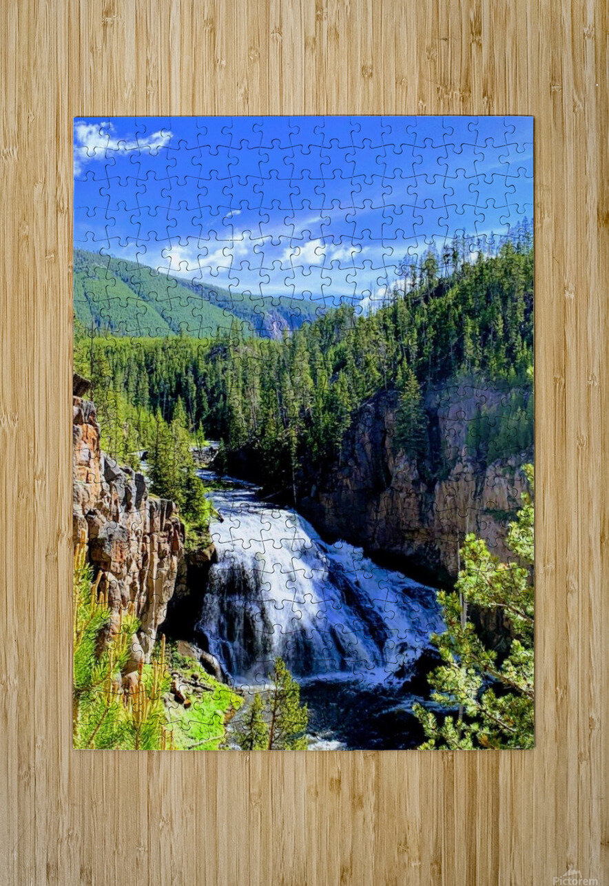 Majestic Waters  HD Metal print with Floating Frame on Back