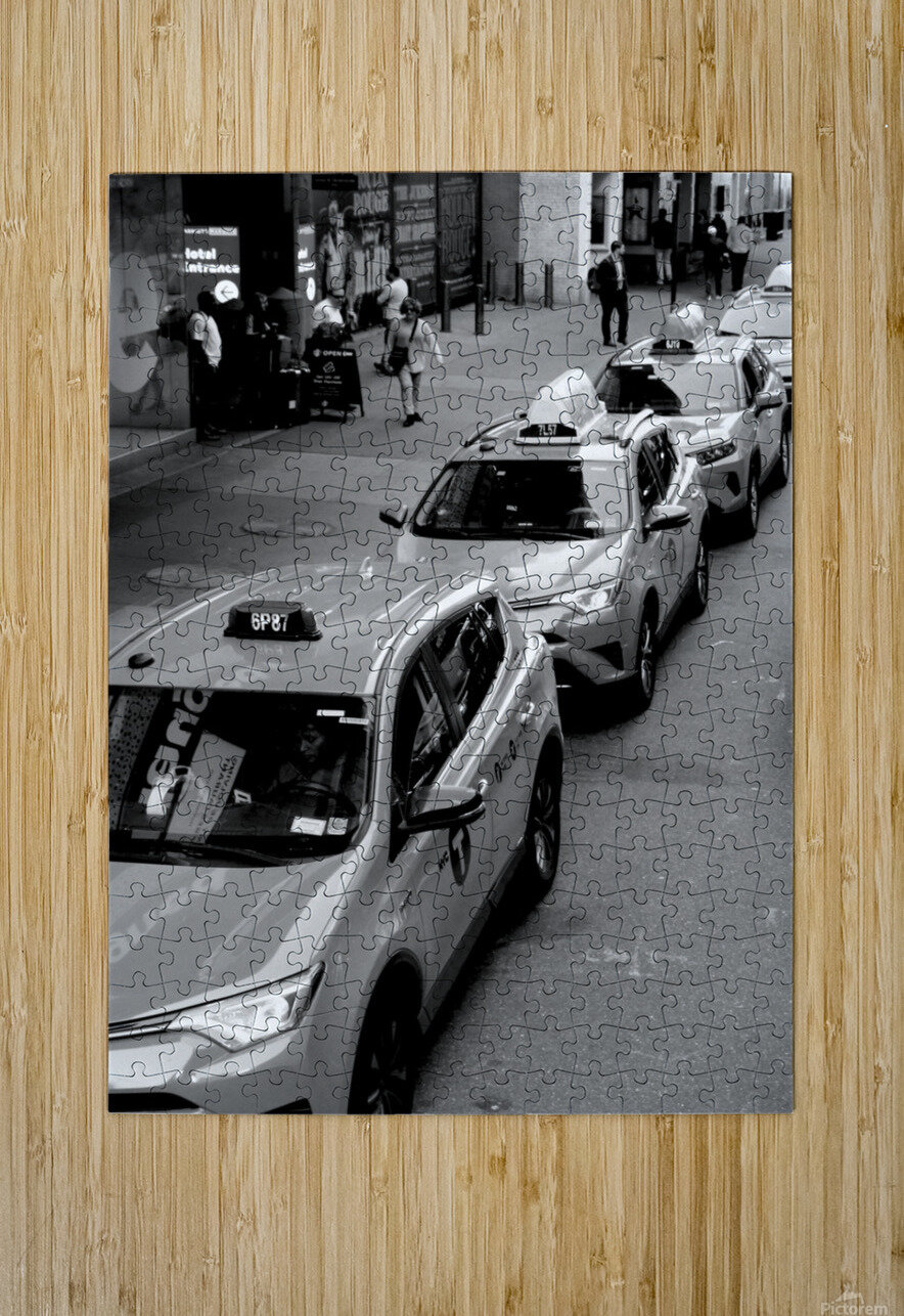 New York Taxis  HD Metal print with Floating Frame on Back