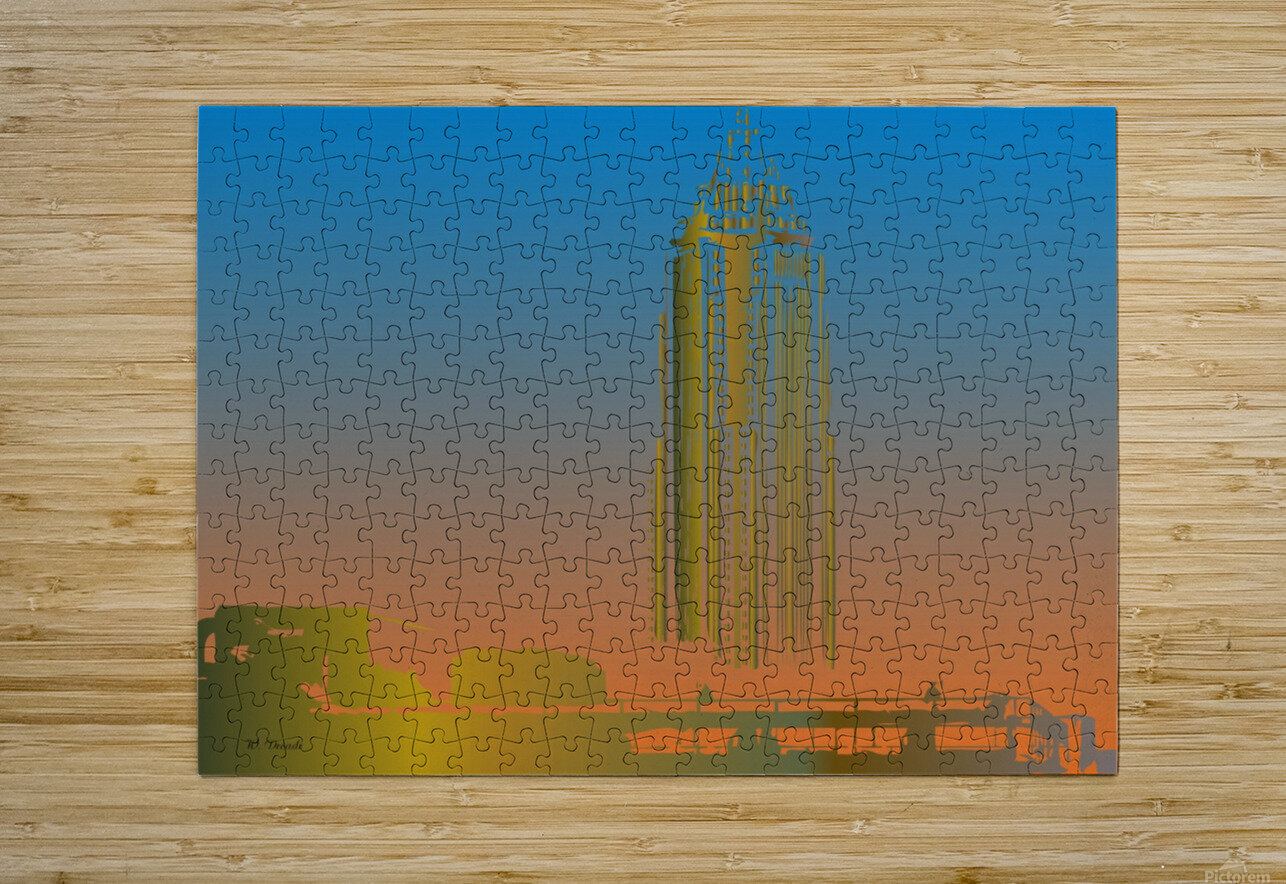 Abstract Skyscraper 1  HD Metal print with Floating Frame on Back