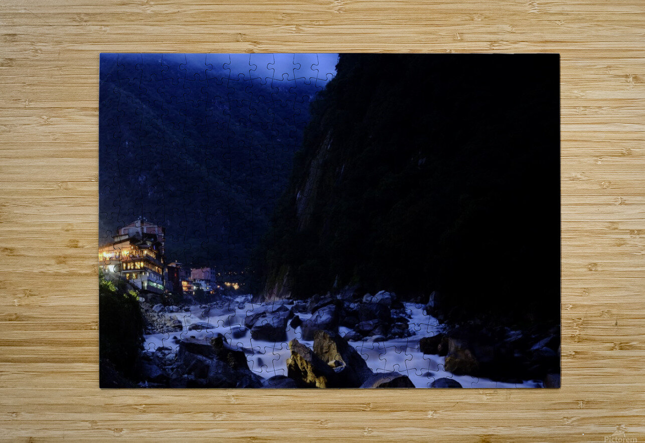 Machu Picchu Pueblo  HD Metal print with Floating Frame on Back