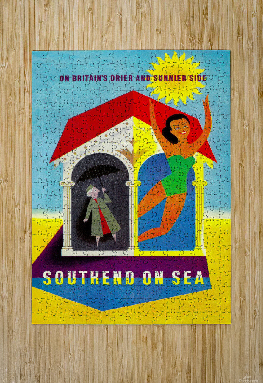 Vintage Travel - Southend on Sea  HD Metal print with Floating Frame on Back
