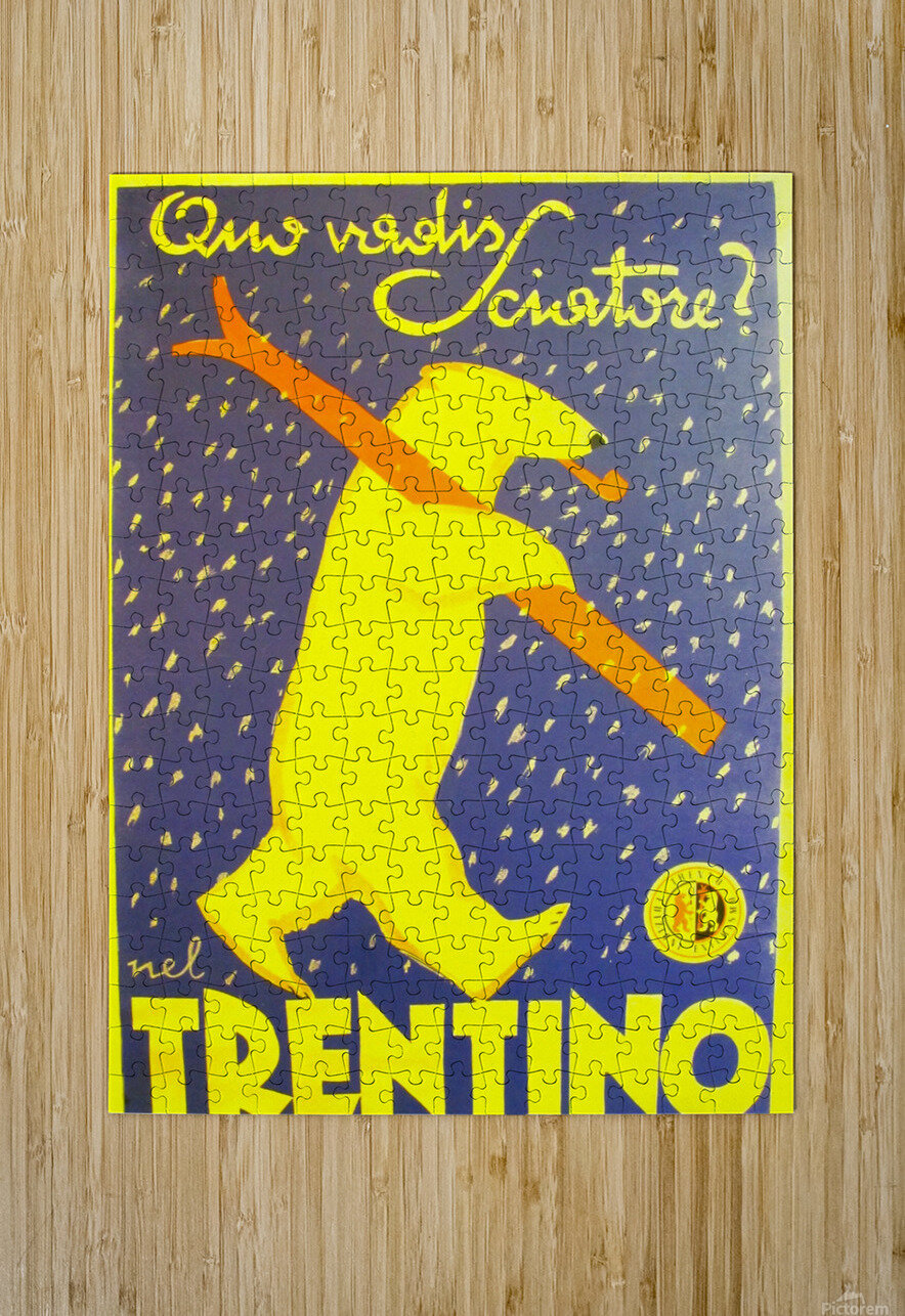 Vintage Travel - Trentino  HD Metal print with Floating Frame on Back