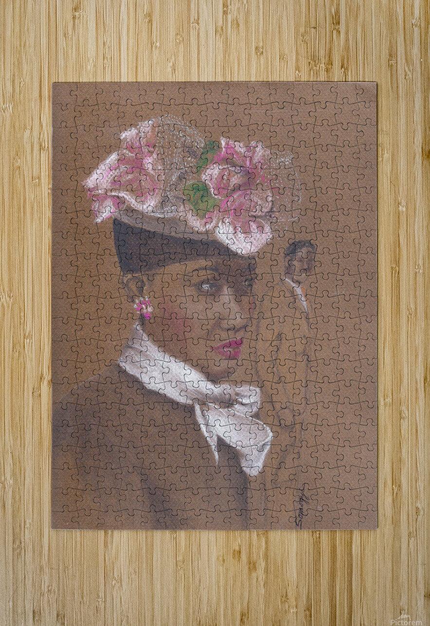 Admirer 1947 Easter Bonnet   HD Metal print with Floating Frame on Back