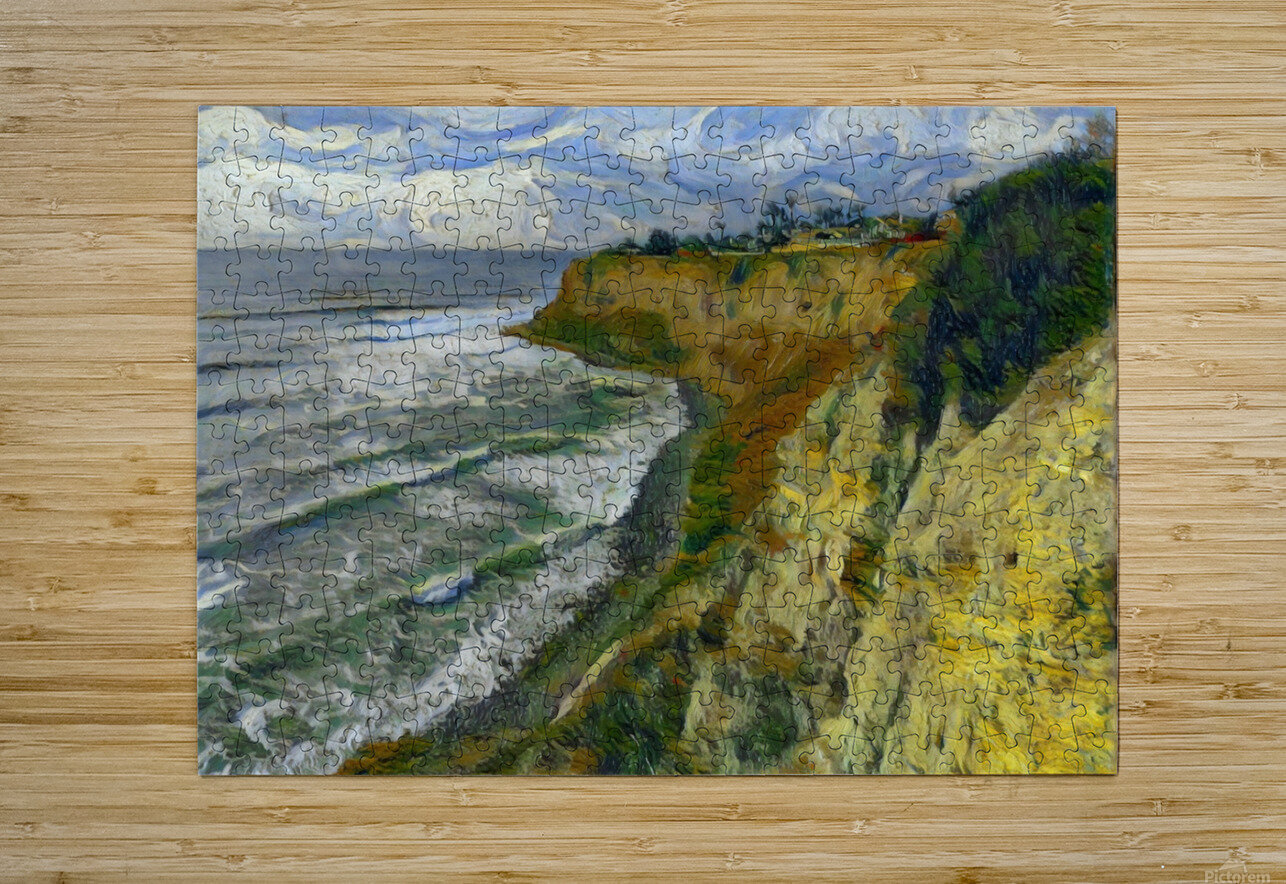 California cove  HD Metal print with Floating Frame on Back