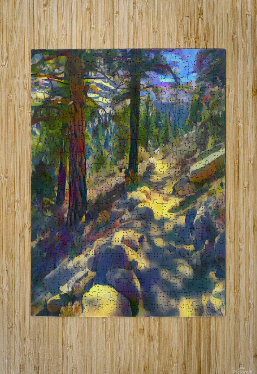 In the shadow  HD Metal print with Floating Frame on Back