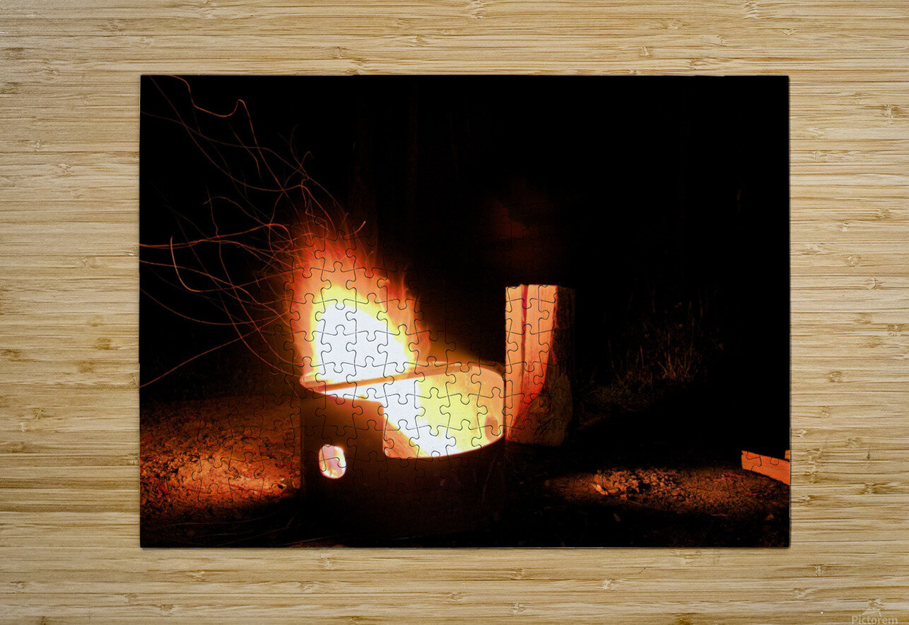 Ask the Campfire  HD Metal print with Floating Frame on Back