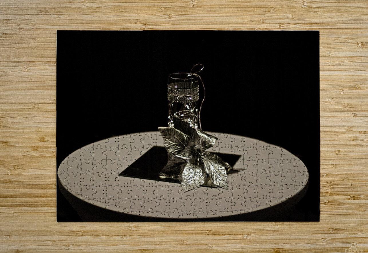 Crystalline Floret  HD Metal print with Floating Frame on Back