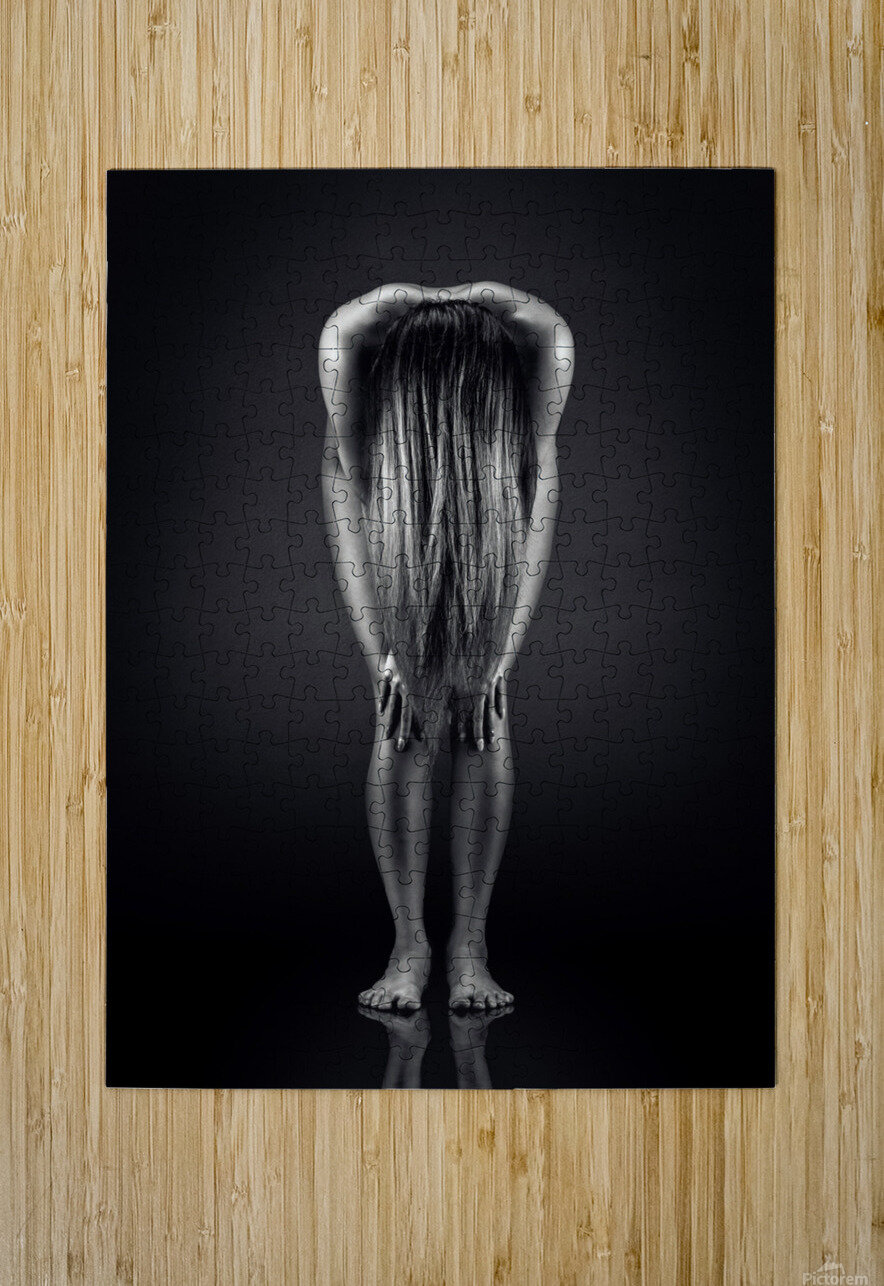 Nude Bodyscape reflections 9  HD Metal print with Floating Frame on Back