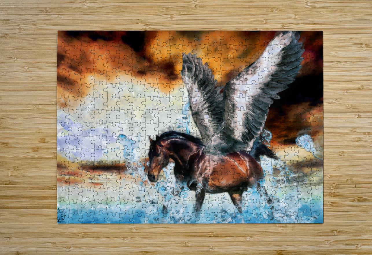 Pegasus  HD Metal print with Floating Frame on Back