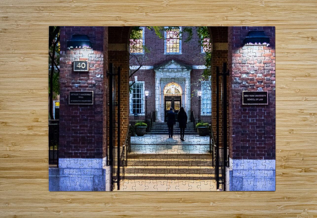 New York University School of Law  Vanderbilt Hall  HD Metal print with Floating Frame on Back