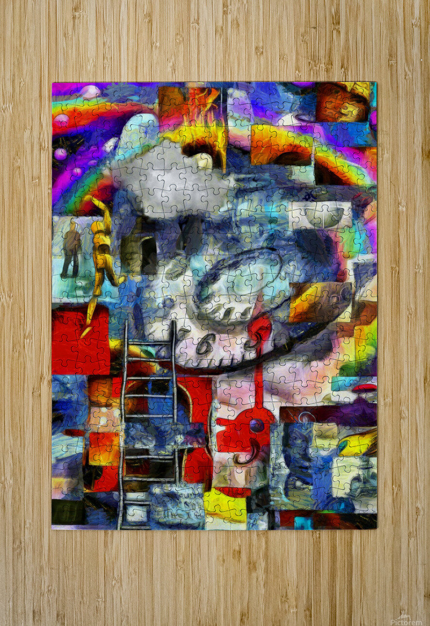 Elements of Human Consciousness  HD Metal print with Floating Frame on Back