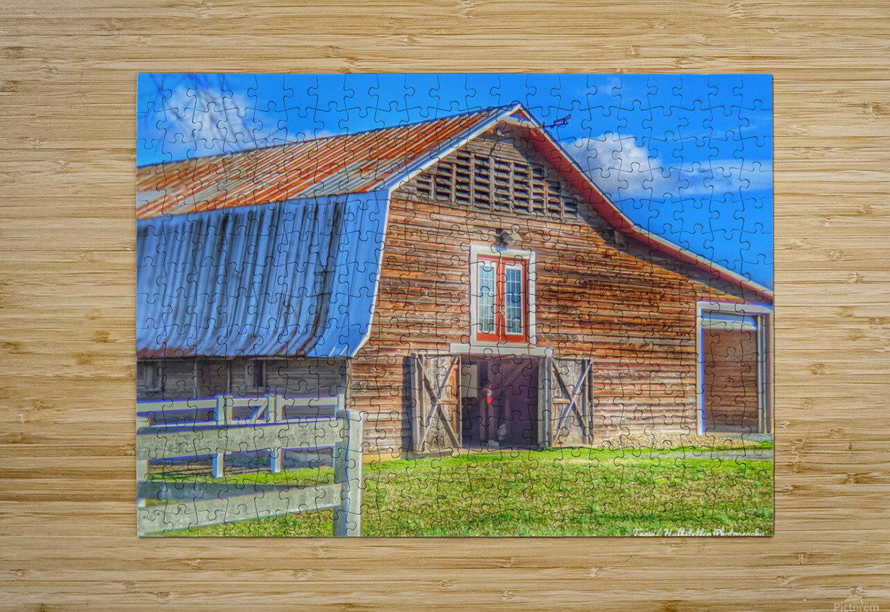 Barn Life.....  HD Metal print with Floating Frame on Back