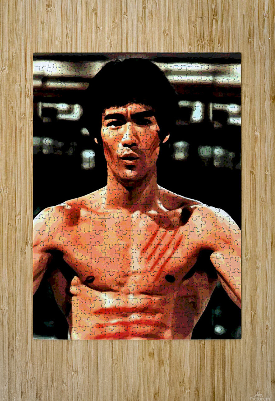 bruce lee1a  HD Metal print with Floating Frame on Back