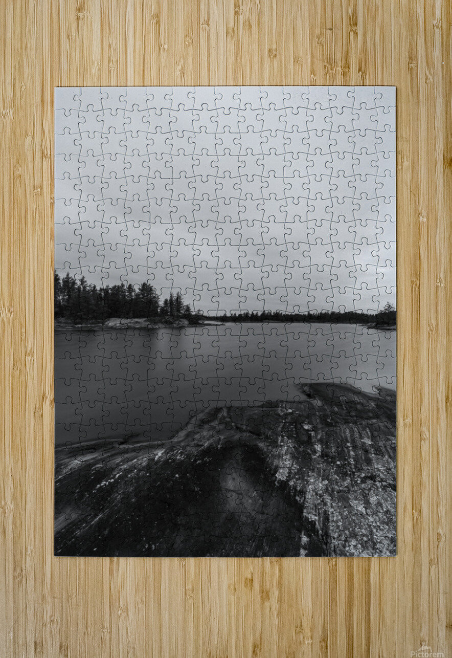 Elton Lake  HD Metal print with Floating Frame on Back
