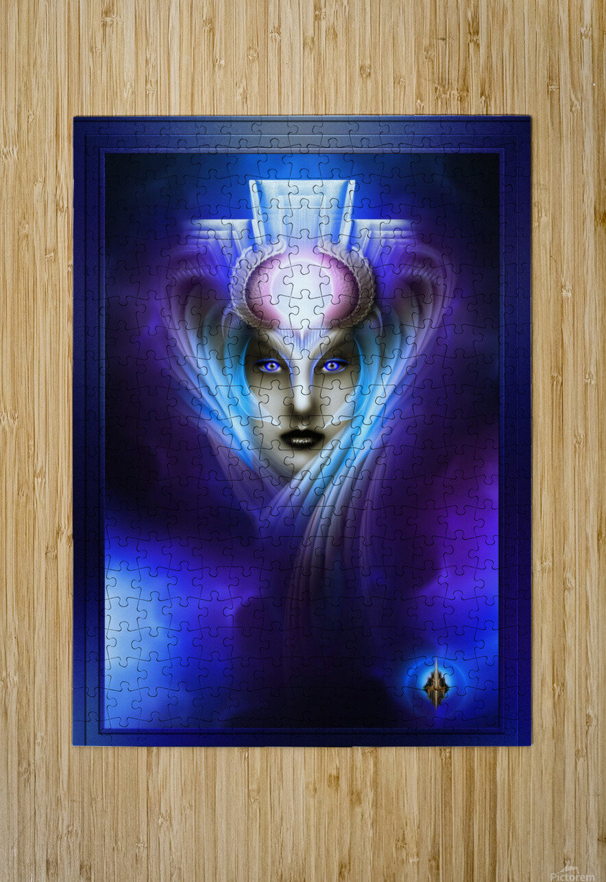 What Dreams Are Made Of Ethereal Clouds Portrait T2  HD Metal print with Floating Frame on Back
