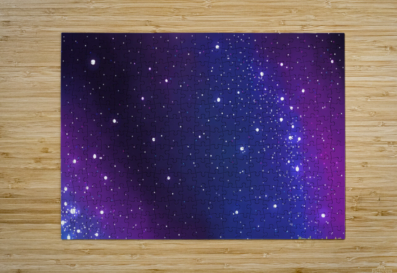 galaxy series - 2  HD Metal print with Floating Frame on Back