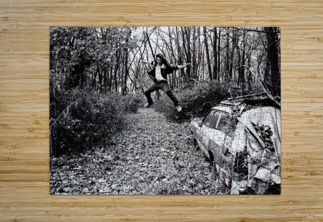 Back Driveway Superhighway  HD Metal print with Floating Frame on Back