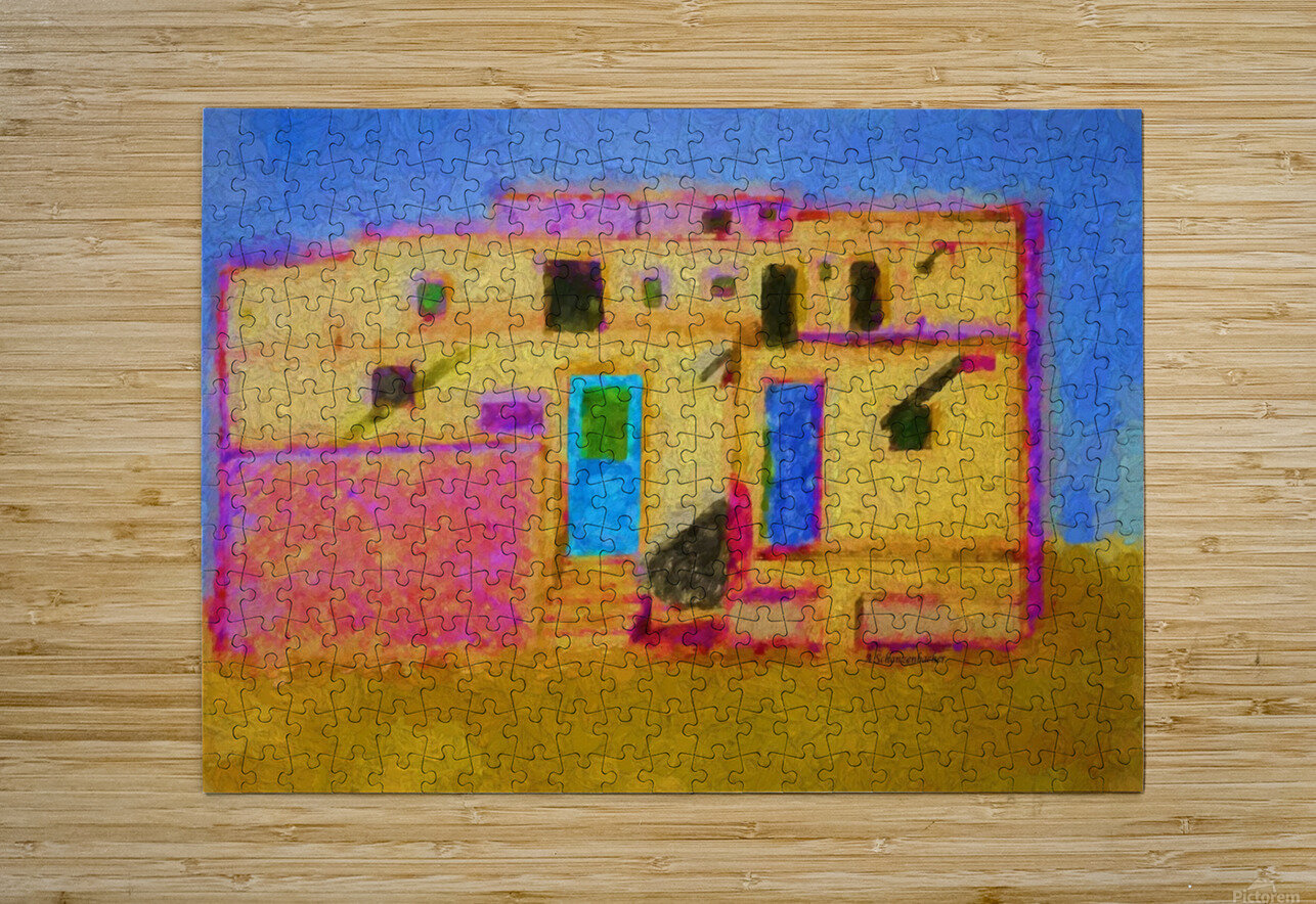 Adobe House New Mexico  HD Metal print with Floating Frame on Back