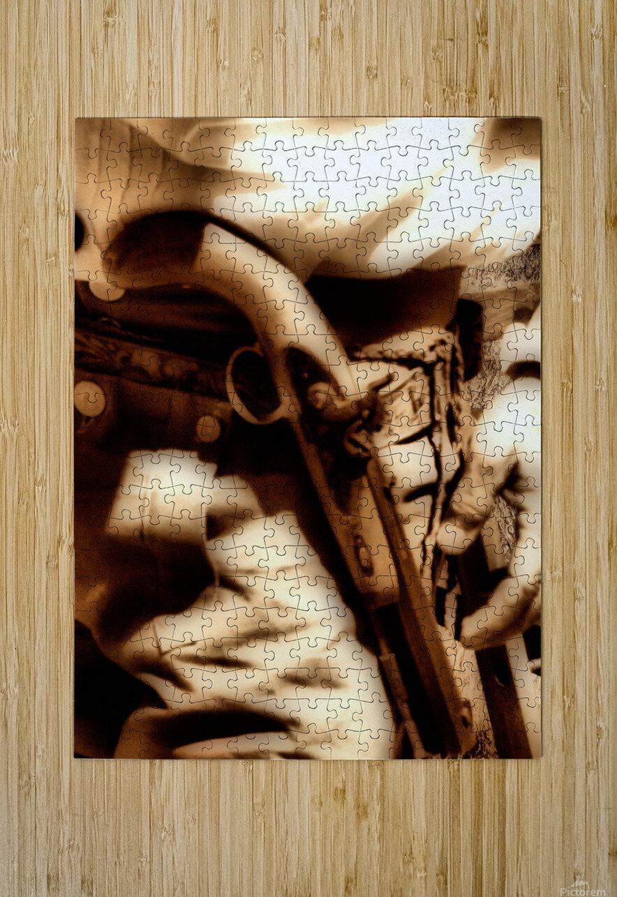 U.S. Civil War Gun and Holster   HD Metal print with Floating Frame on Back
