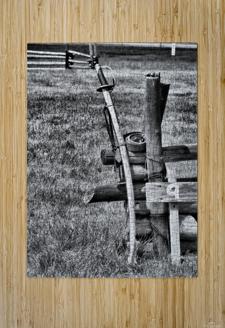 Sword  HD Metal print with Floating Frame on Back