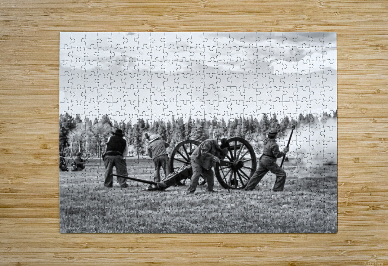 U. S. Civil War Re-enactment  HD Metal print with Floating Frame on Back