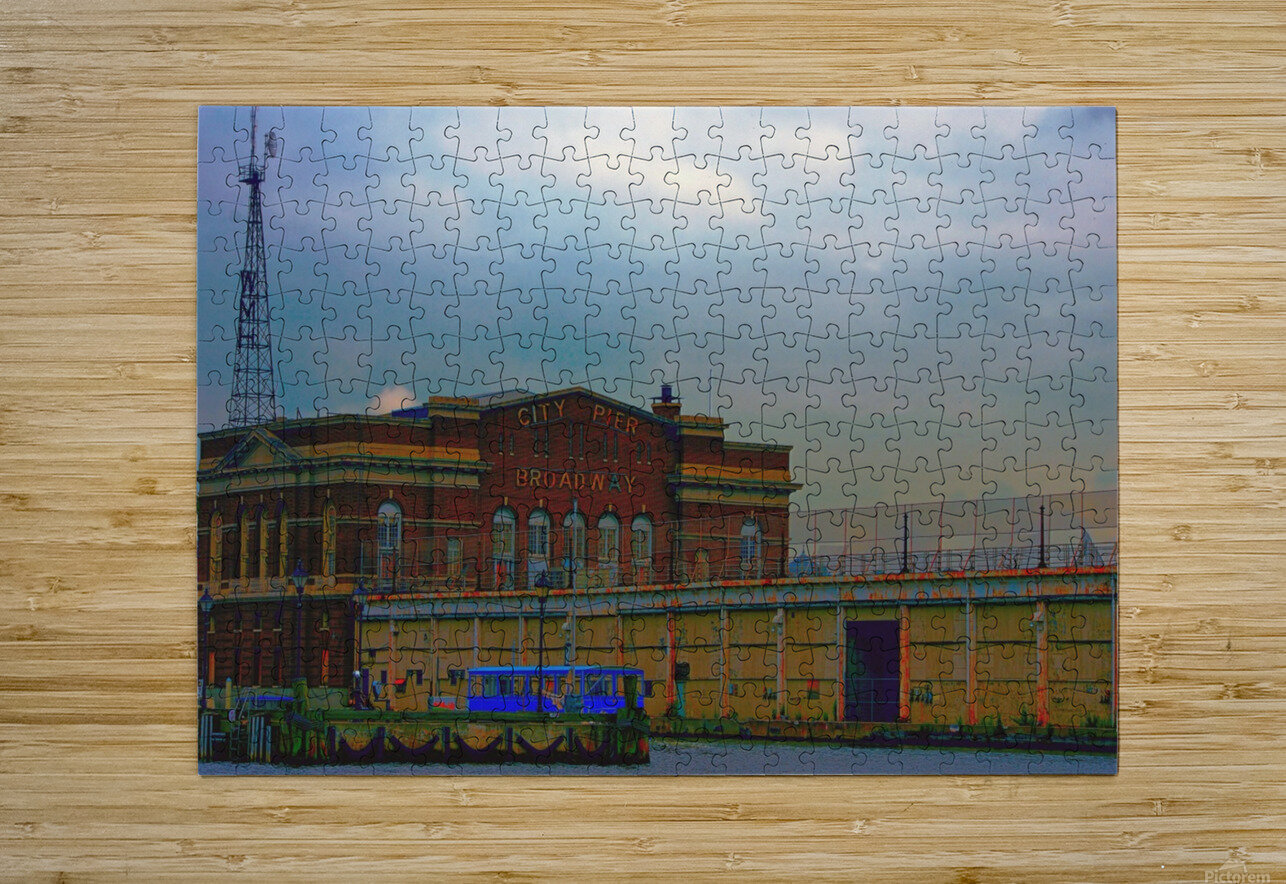 Port of Baltimore MD  HD Metal print with Floating Frame on Back