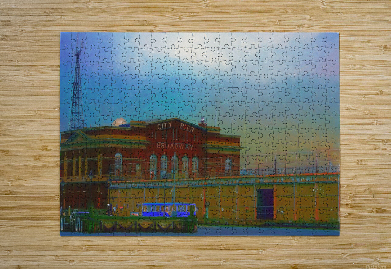 Baltimore Port Maryland   HD Metal print with Floating Frame on Back