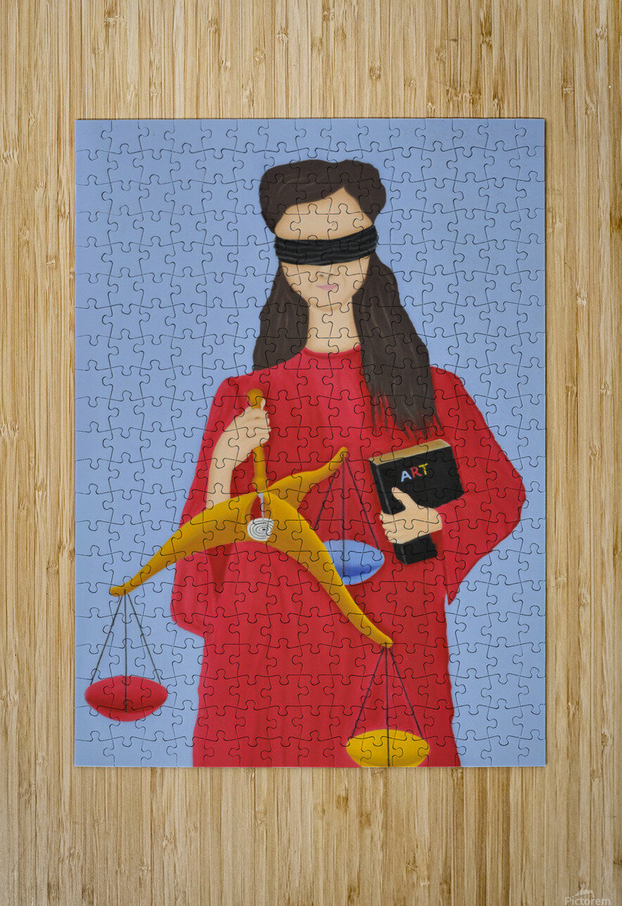 three dimensional justice  HD Metal print with Floating Frame on Back